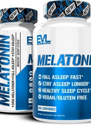 EVLution Nutrition Melatonin мелатонин. 5 мг, 100 табл.