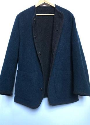Двустороннее теплое шерстяное пальто