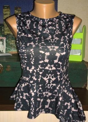 Топ блуза с ассиметричной баской