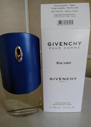 Великолепный givenchy blue label 100ml(тестер) читаем описание!!!