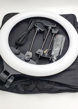Светодиодная кольцевая LED селфи лампа 45 см SLP-G500 / ZB-F34...