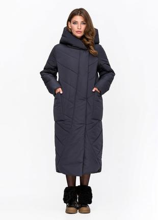 """Куртка """"одеяло"""" графит код: 3091"""