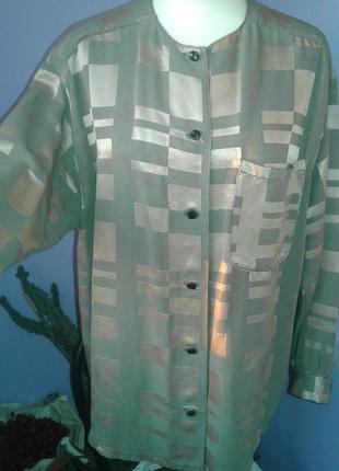 Блуза рубашка -стильный винтаж р 50-52