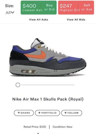 Nike air max 1 school pack (royal)