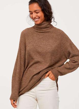 Длинный свитер h&m, шерсть