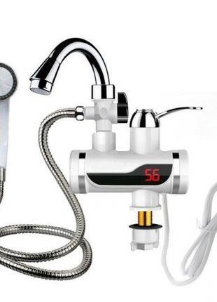 Цифровой кран водонагреватель с душем Delimano