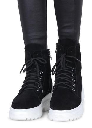 Ботинки на меху cruse,натуральная замша,зима 2020