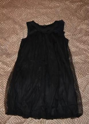 Красивое чёрное платье m&co на 11-12 лет рост 146-152 англия