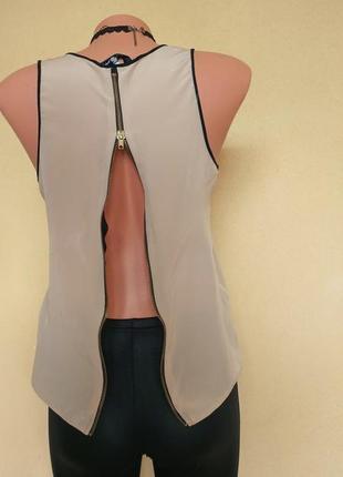 Блуза new look майка с молнией на спине