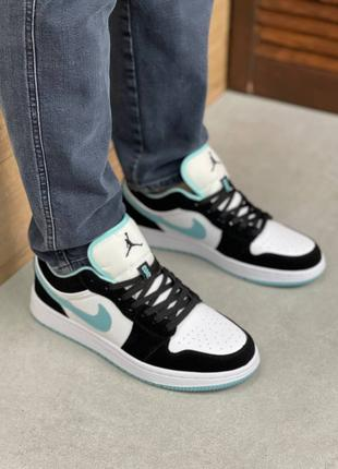 Мужские кроссовки Nike Air Jordan 1 Low Black/Mint(41-45р)