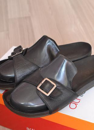 Кожаные мюли шлепки шлепанцы босоножки сандали сланцы clarks