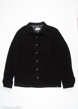Шерстяное черное мужское пальто blend
