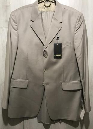 Мужской классический костюм alligattor бежевый 076 (58)
