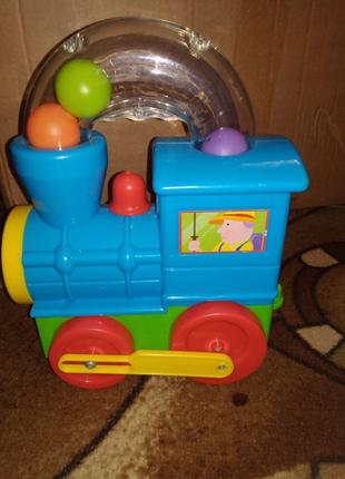 Паровоз, паровозик, развивающая игрушка