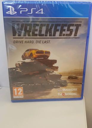 PS4 Wreckfest русс субтитры новый запечатаный