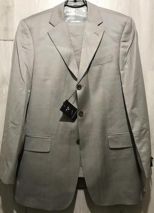 Мужской классический костюм daniel rizotto серый в бронзовую п...