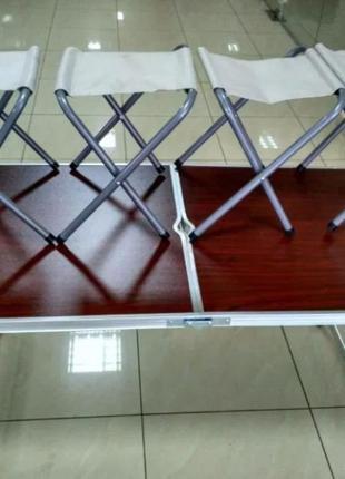 Раскладной стол с 4 стульями для пикника
