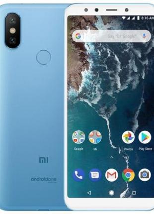 Глобальный Xiaomi Mi A2 4Gb/64Gb 5.99'' BLUE Подарок стекло Налож