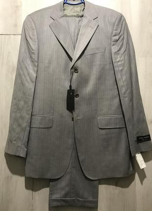 Мужской классический костюм daniel rizotto серебряно-серого цв...