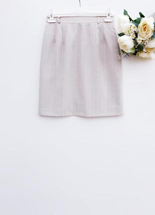 Шерстяная юбка миди практичная юбка миди