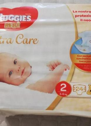 Підгузники huggies extra care 2 (3-6кг) - 24 шт.