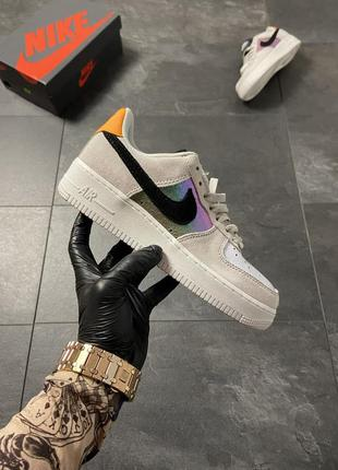 Nike air force 1 low beige suede