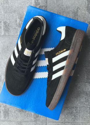 Adidas spezial black white мужские кроссовки наложенный платёж