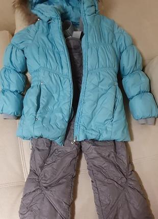 Комбинезон с курткой зима 122-140 фирма цегейка как новое