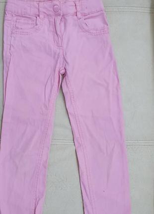 Стрейчевые брюки штаны 6-8 лет e-vie розовые фирменные