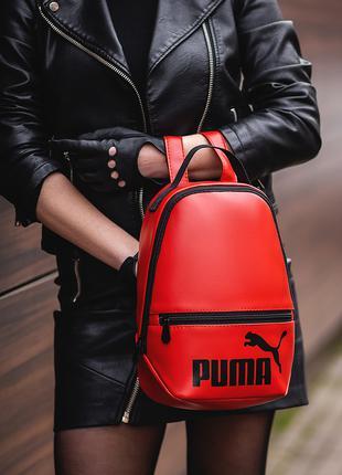 женский красный Рюкзак Puma кожзам