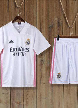 Детская Футбольная Форма Реал Мадрид 2020-2021 Домашняя