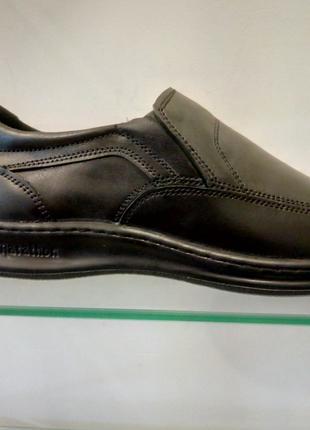 Кожаные туфли комфорт класса