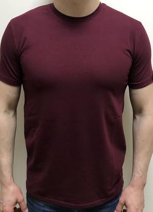 Мужская однотонная футболка батал