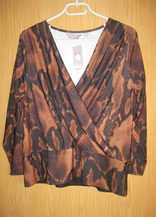 """Новая суперстрейч блузка """"dorothy perkins"""" р.48 невысокий рост"""