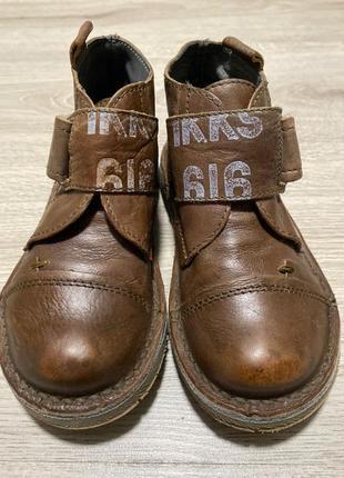 Ботиночки французского бренда ikks, кожаные туфельки, красовки...
