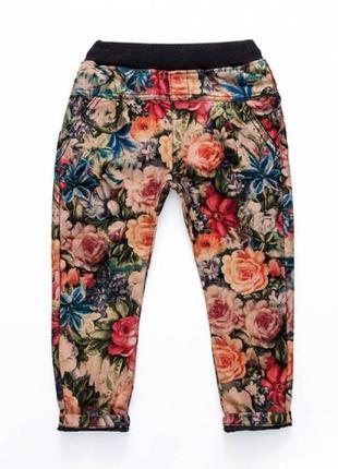Штаны для девочки flowers