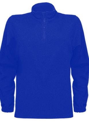 Флисовый мужской свитер с коротким замком