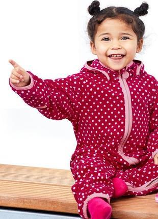 Флисовый комбинезон, поддева 74-80 tchibo, германия, термо одежда