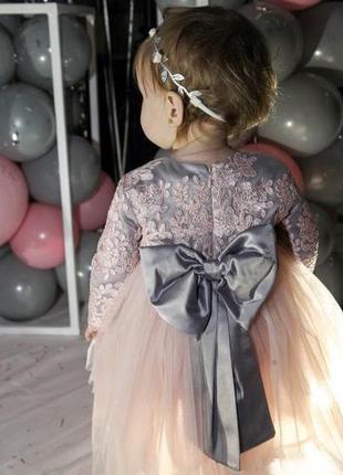 Фатиновое нарядное платье кружево  для девочки на годик