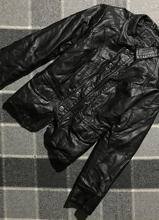 Женская куртка кожанка