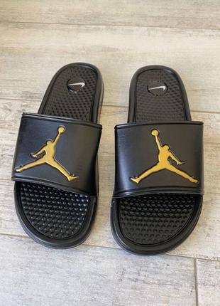 Jordan Slide Sandal Logo Gold/Black - White/Black