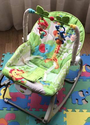 Кресло-качалка (шезлонг) Fisher-Price Веселые обезьянки
