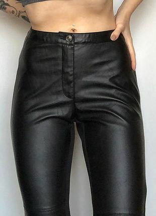 Обалденные узкие кожаные брюки h&m