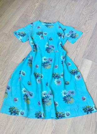 Платье винтажное времен ссср крепдешин