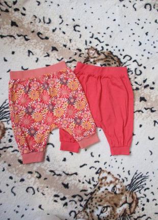 Комплектом трикотажные штанишки с матней для девочки на 3-6-9 ...