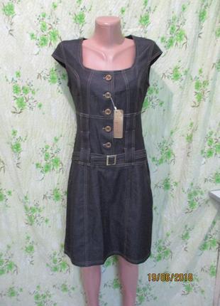 Котоновй сарафан платье под джинс/джинсовый сарафан на пуговиц...
