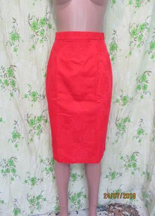 Чёрная пятница красная юбка карандаш/высокая талия фактурная т...