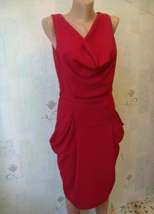 Чёрная пятница элегантное платье футляр с карманами и драпиров...