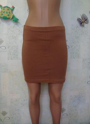 Трикотажная юбка мини 40-42-44 размер