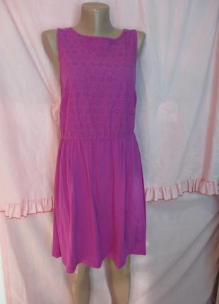 Летнее трикотажное платье с выбитой тканью 46-48 размер
